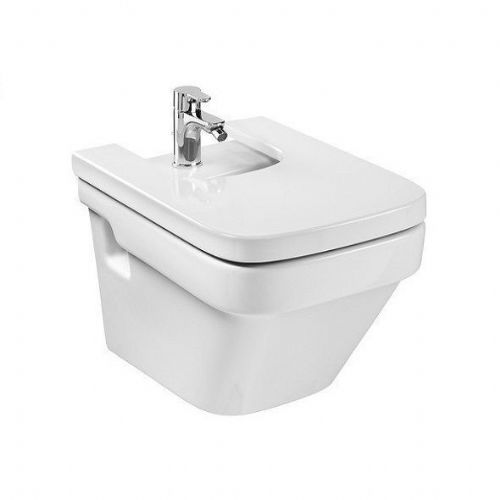 Roca Dama-N Wall Hung Bidet - Soft Close Bidet Cover - 1 Tap Hole - White